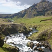 Skogafoss Natur Islands
